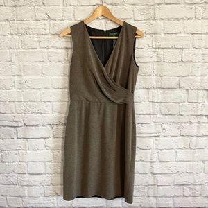 LAUREN Ralph Lauren Fine Knit Brown Midi Dress